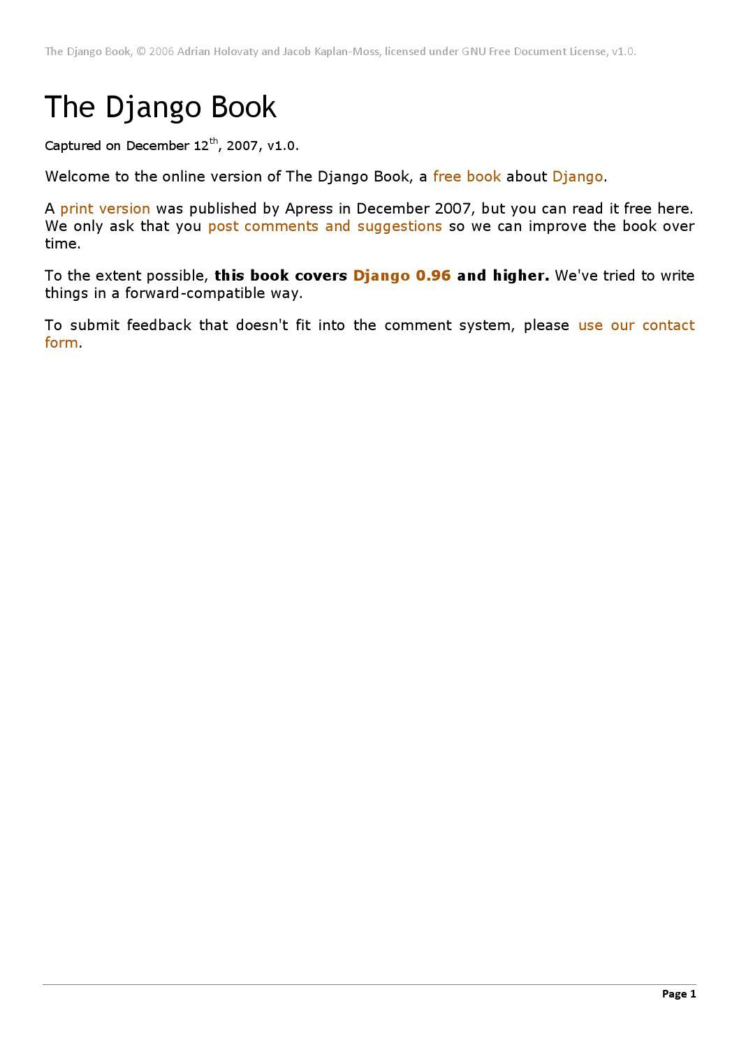 The django book by Doragon - issuu