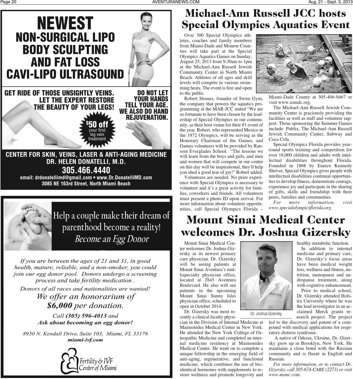 Aventura News 8 21 2013 by Community Newspapers - issuu