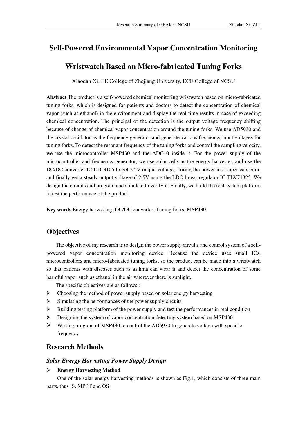 Research summary xiaodan xi by Paul Xi - issuu