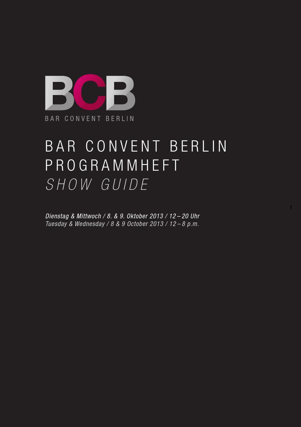Bar Convent Berlin Show Guide Programmheft 2013 By