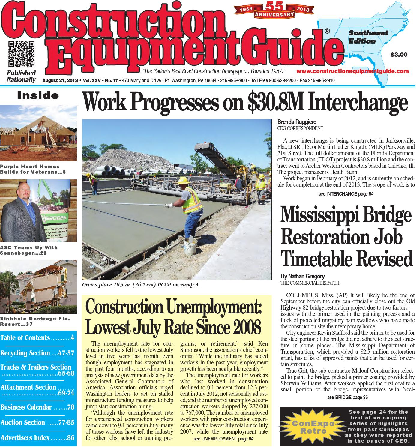 Southeast 17 2013 by Construction Equipment Guide - issuu d3d91d3daf
