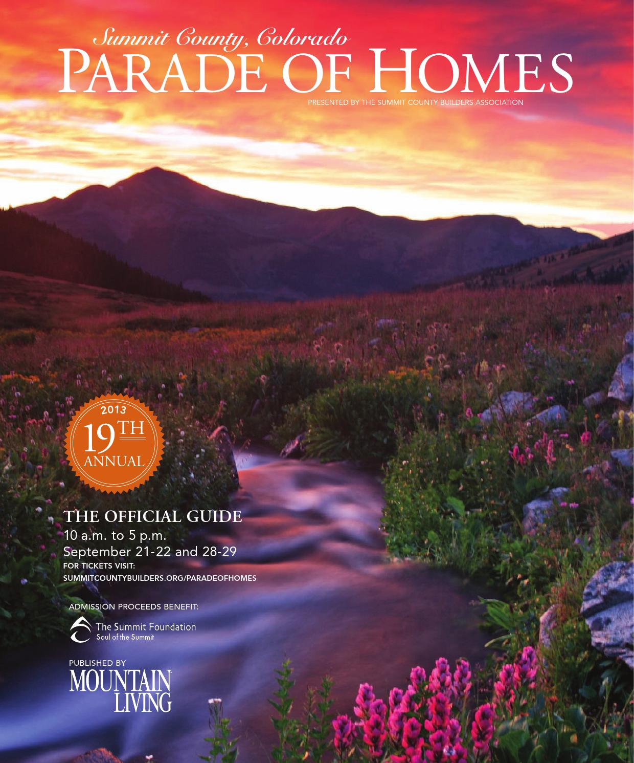 Summit County Colorado Parade Of Homes By Network
