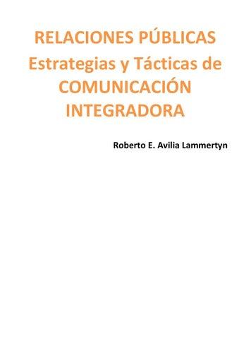 sale retailer d5542 ce82a RELACIONES PÚBLICAS Estrategias y Tácticas de COMUNICACIÓN INTEGRADORA  Roberto E. Avilia Lammertyn