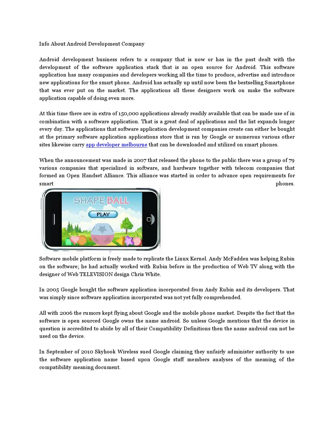 Info about android development compan6 by mactin62 - issuu