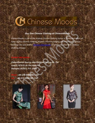 78c2bf1d5 Buy Fine Chinese Clothing at ChineseMoods ChineseMoods is one of the  leading Chinese Clothing Stores in China that offers all types of fine  Chinese clothing ...