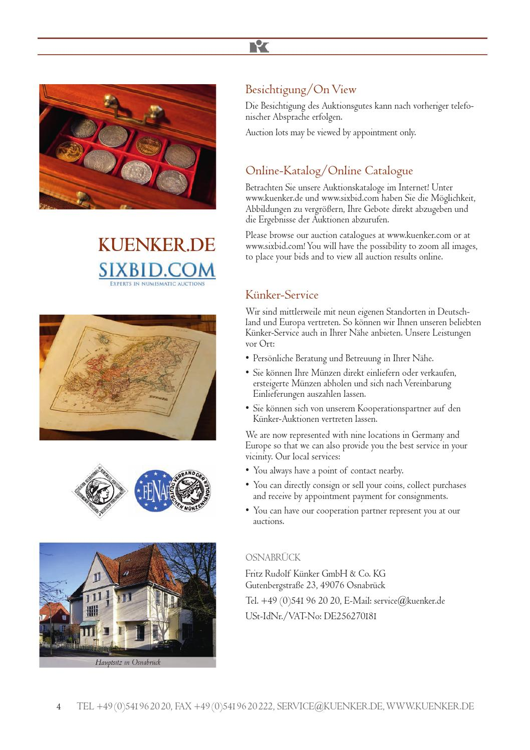 Auktion 236 Künker by Fritz Rudolf Kuenker GmbH & Co  KG - issuu