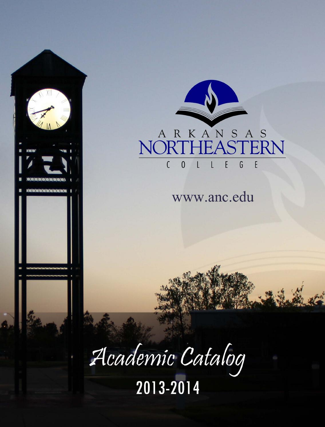 2013-2014 ANC Course Catalog by Danny Graham - Issuu