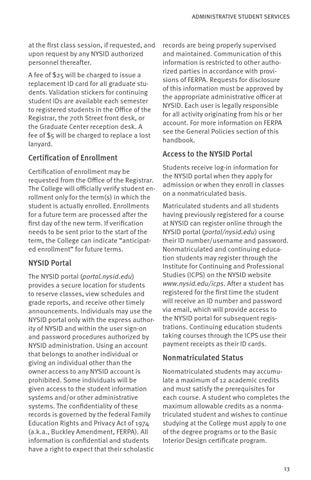 NYSID Student Handbook 2013 2014 By New York School Of Interior