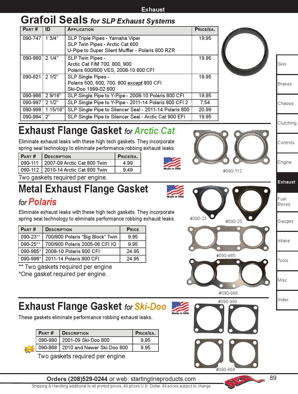 Exhaust Flange Grafoil Seal 2-9//16