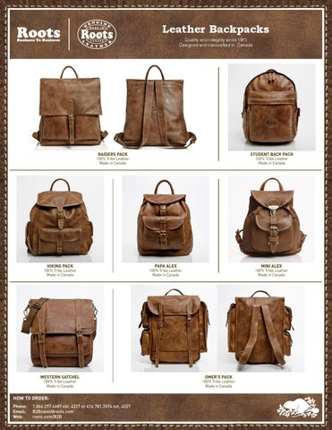 Roots B2B Leather Backpacks by Roots B2B - issuu