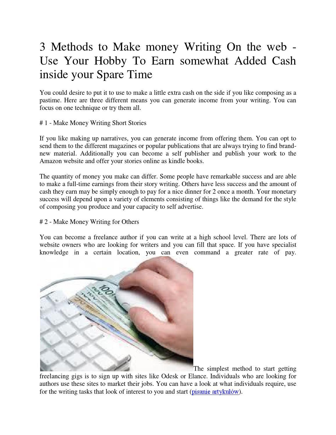 3 methods to make money writing on the web by zarabianie na
