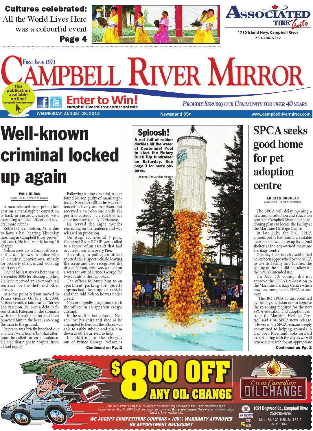Campbell River Mirror August 28 2013 By Black Press Media