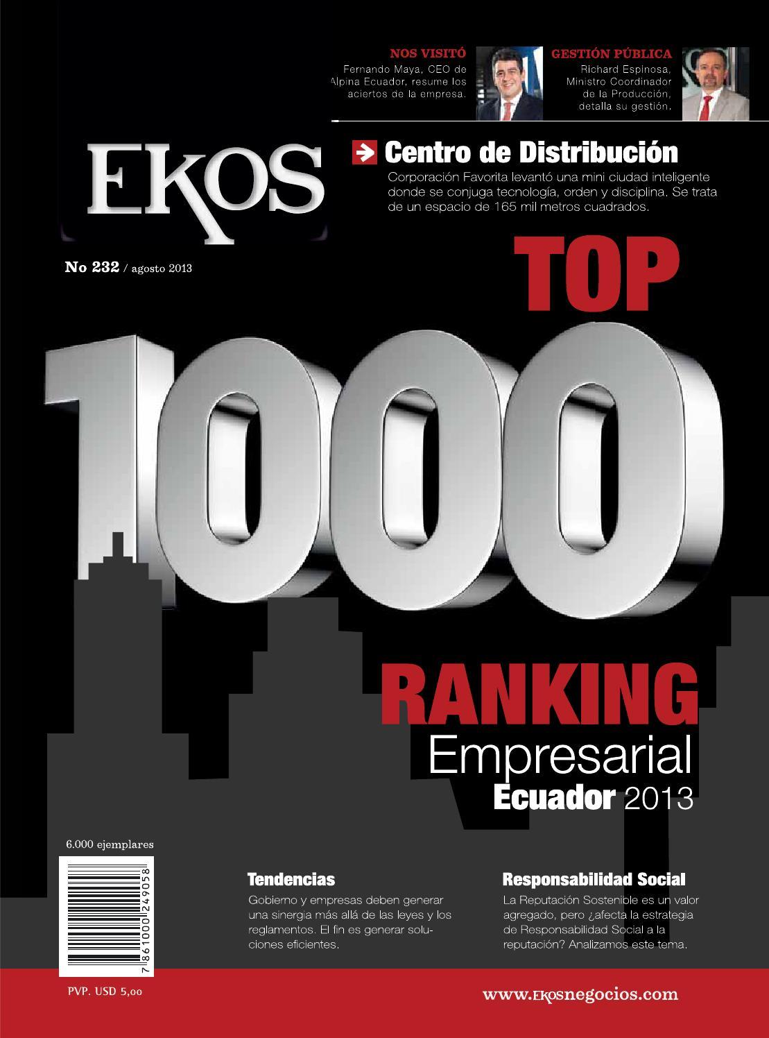 5068a6dad0ed Revisa Ekos - Ranking Empresarial Ecuador 2013 by Ekos - issuu