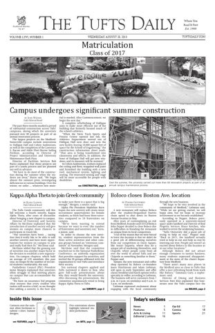 TuftsDaily8 28 13 by Tufts Daily - issuu