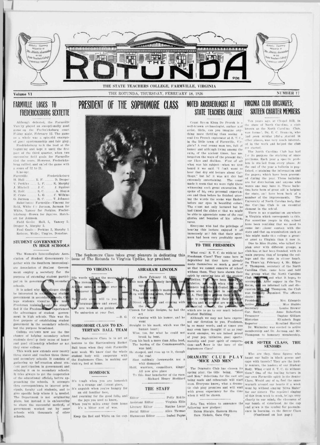 Rotunda vol 6, no 17 feb 18, 1926 by Greenwood Library - issuu