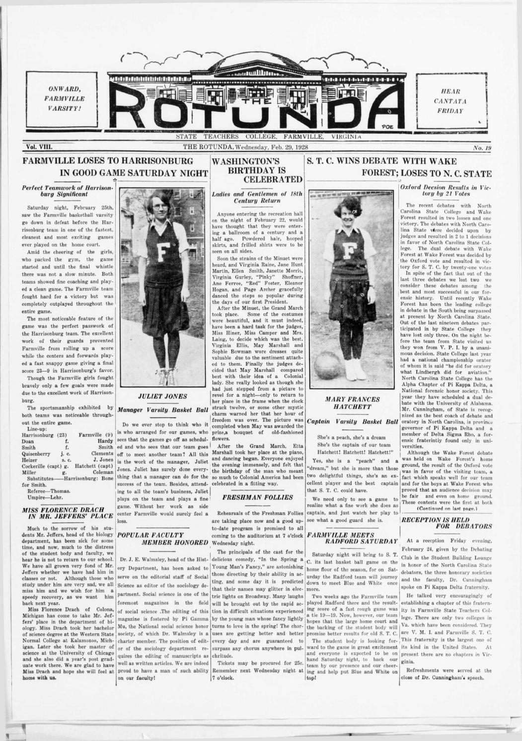 Rotunda vol 8, no 19 feb 29, 1928 by Greenwood Library - issuu