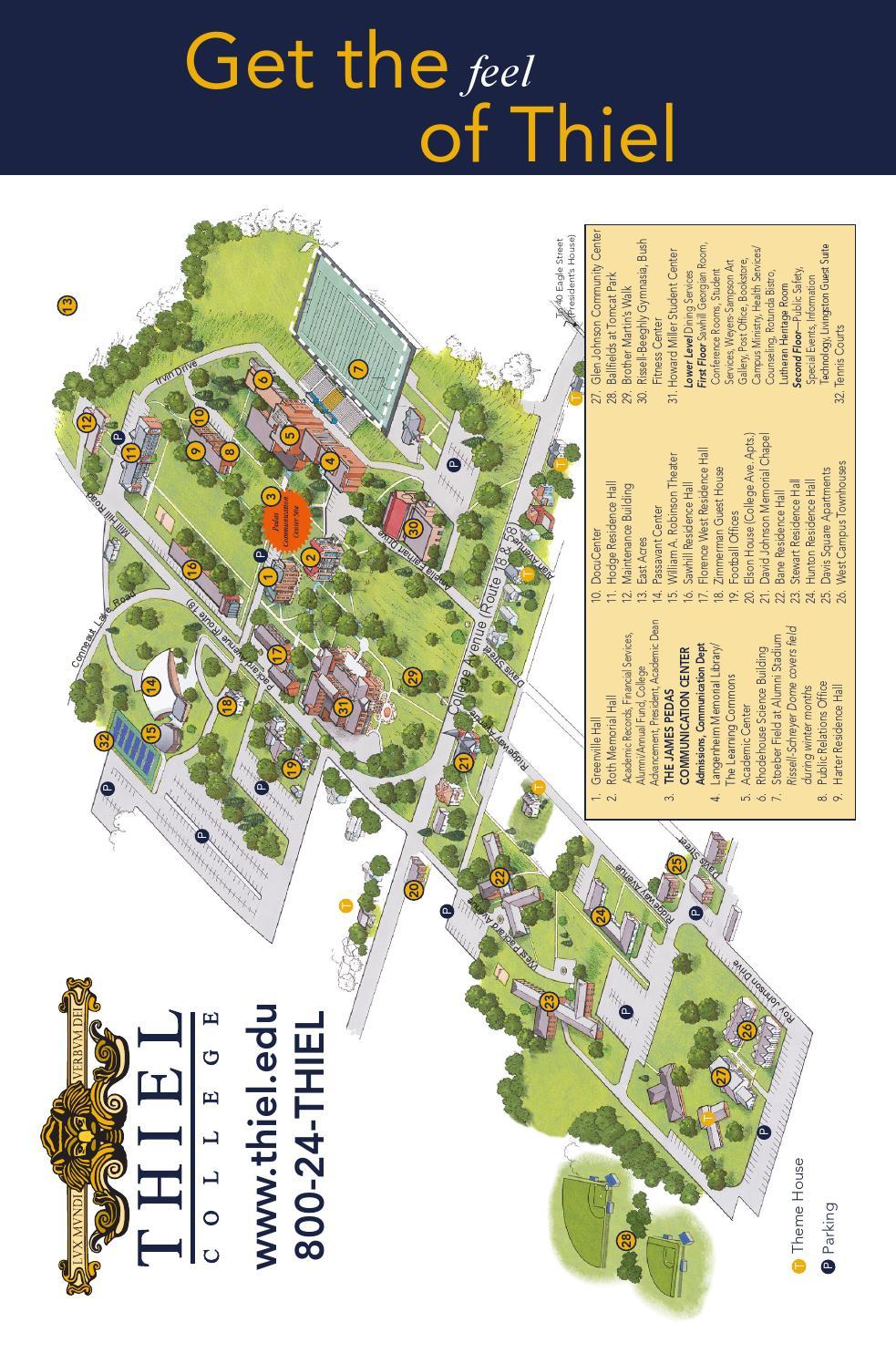 thiel college campus map Intl Viewbook By Thiel College Issuu