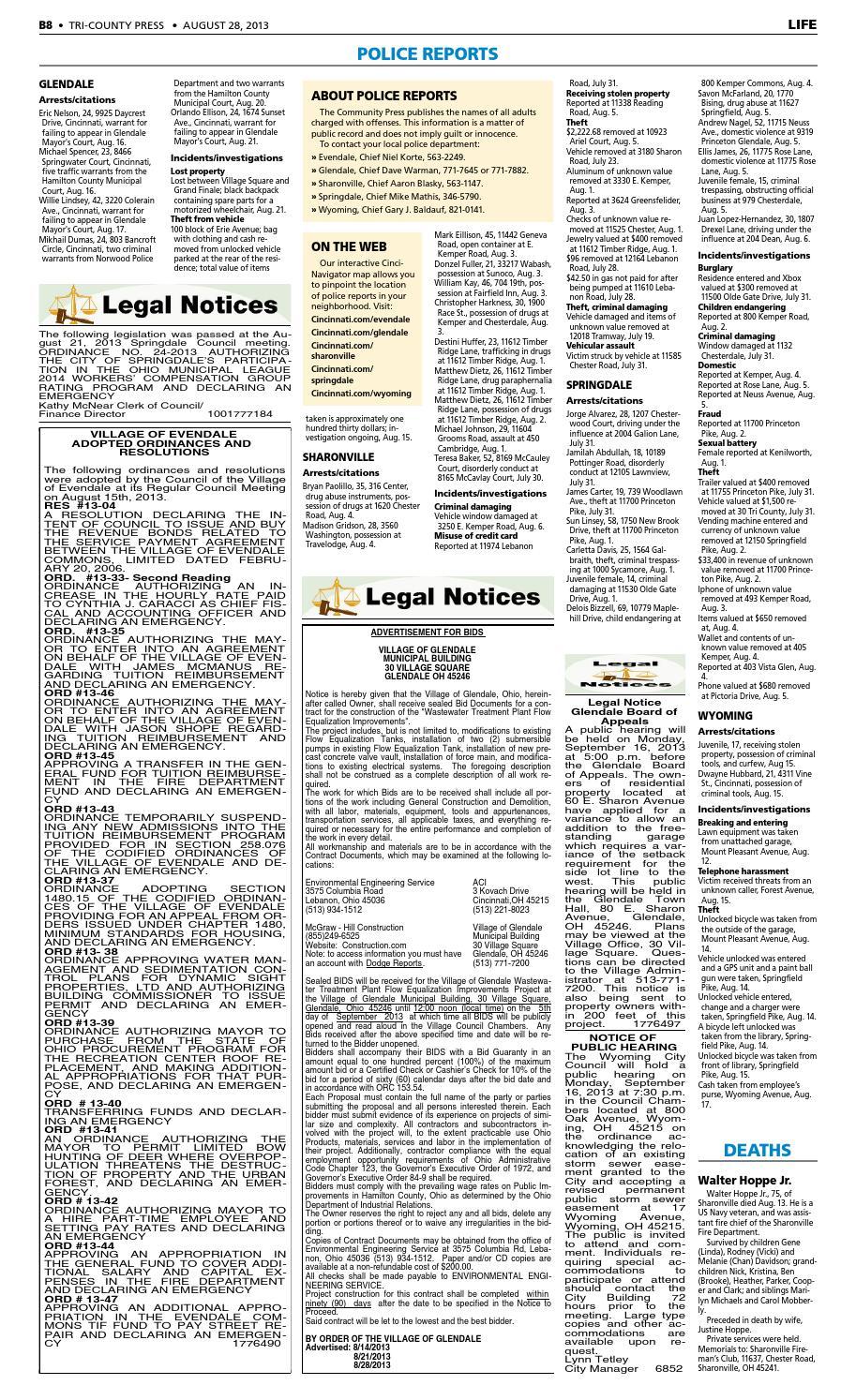 Tri county press 082813 by Enquirer Media - issuu