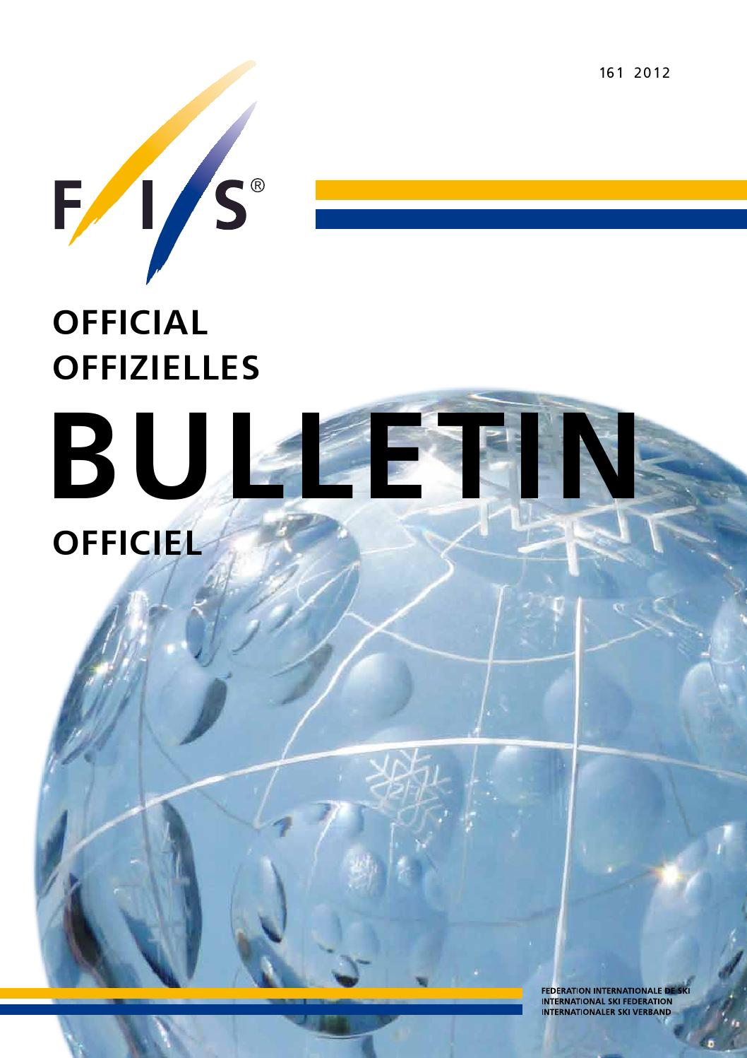 FIS 2012 Bulletin By