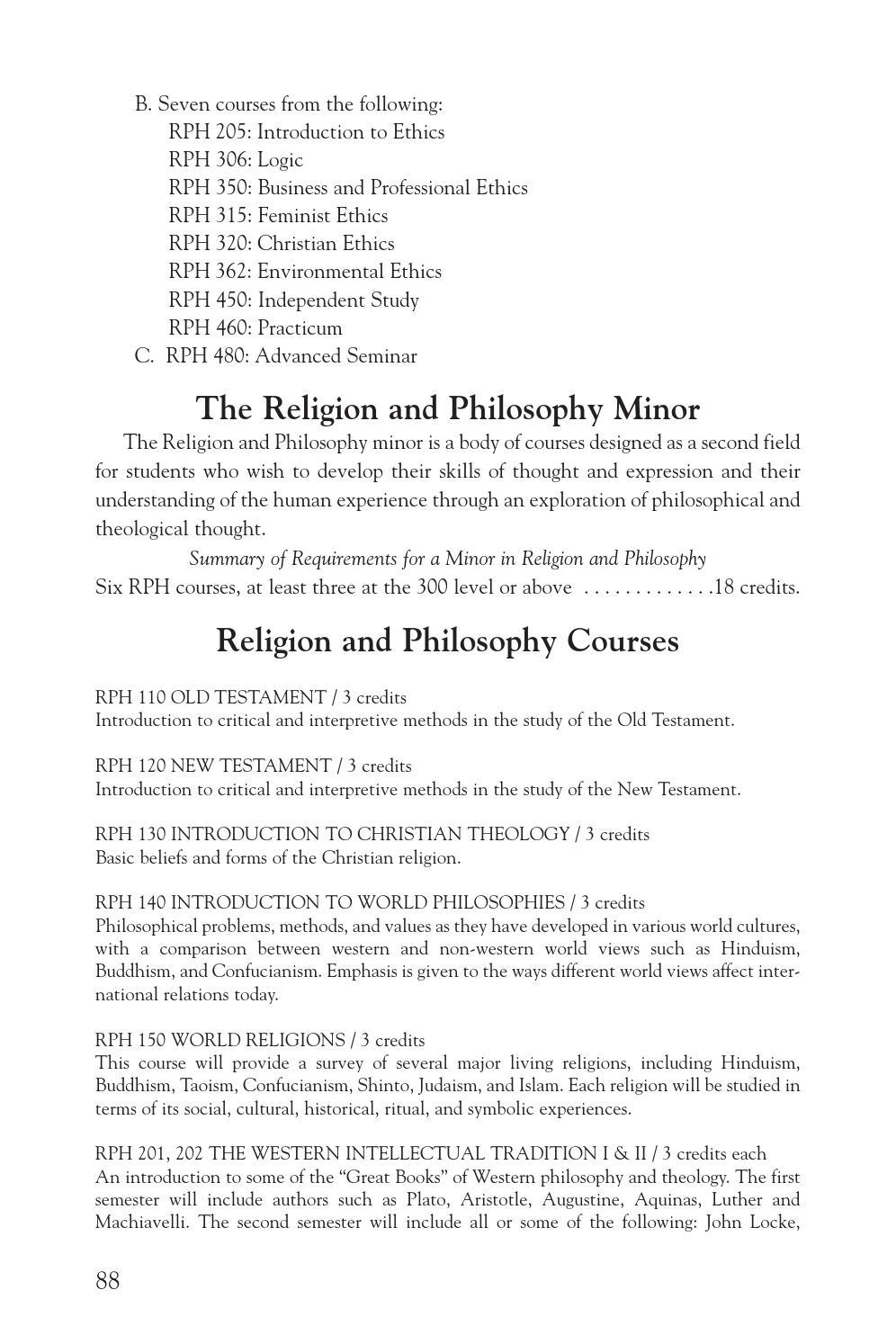 Lyon Catalog By Lyon College Issuu - 3 major religions
