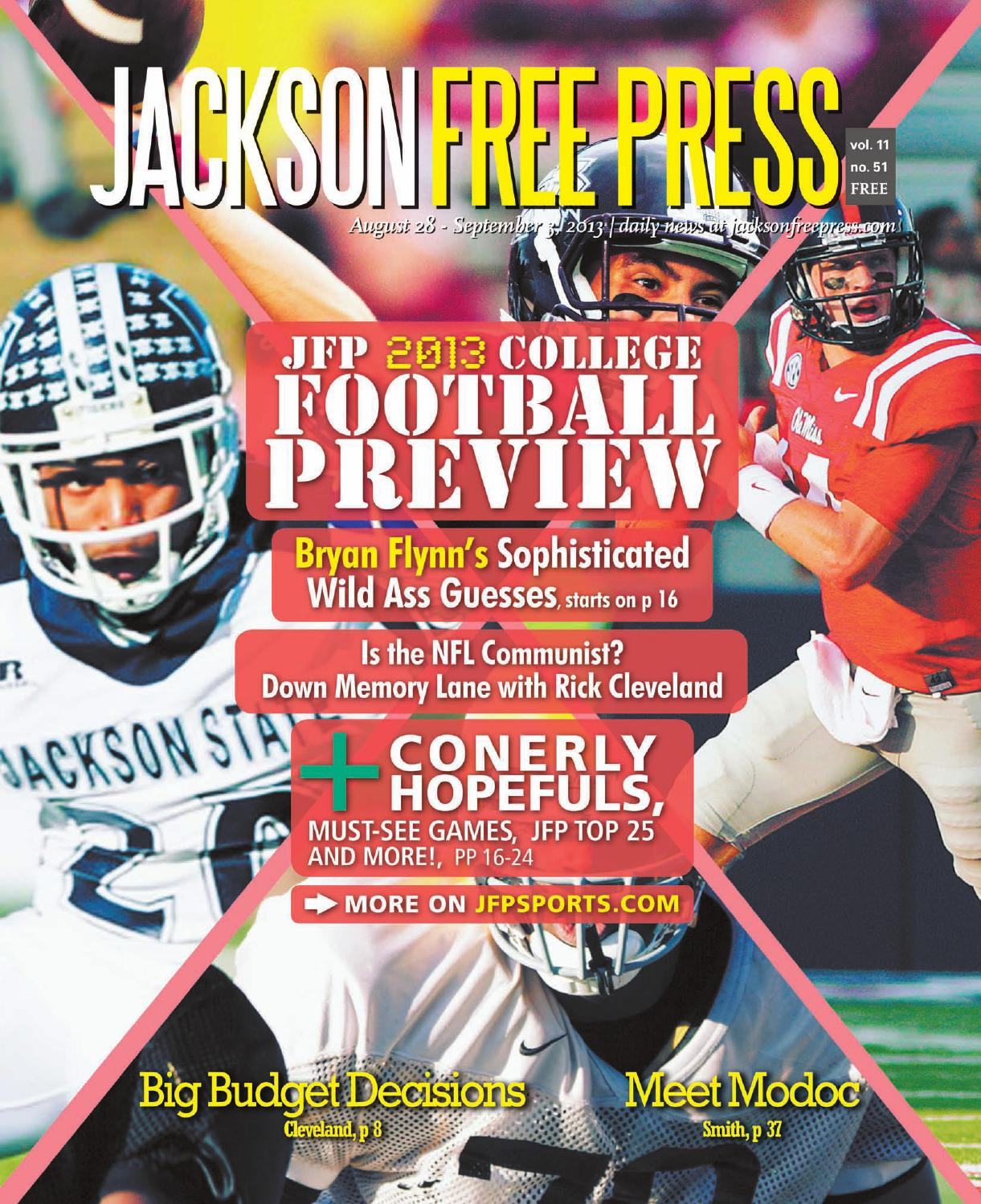 1221d53b6 v11n51 - JFP 2013 College Football Preview by Jackson Free Press ...