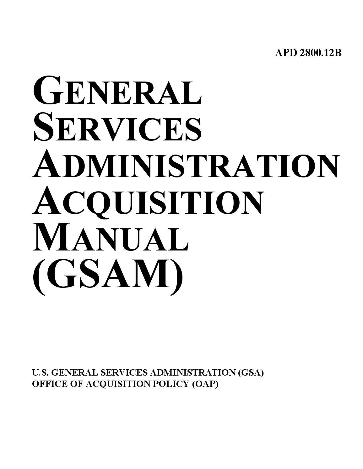 GSA Acquisition Manual by Federal Buyers Guide, inc. - issuu