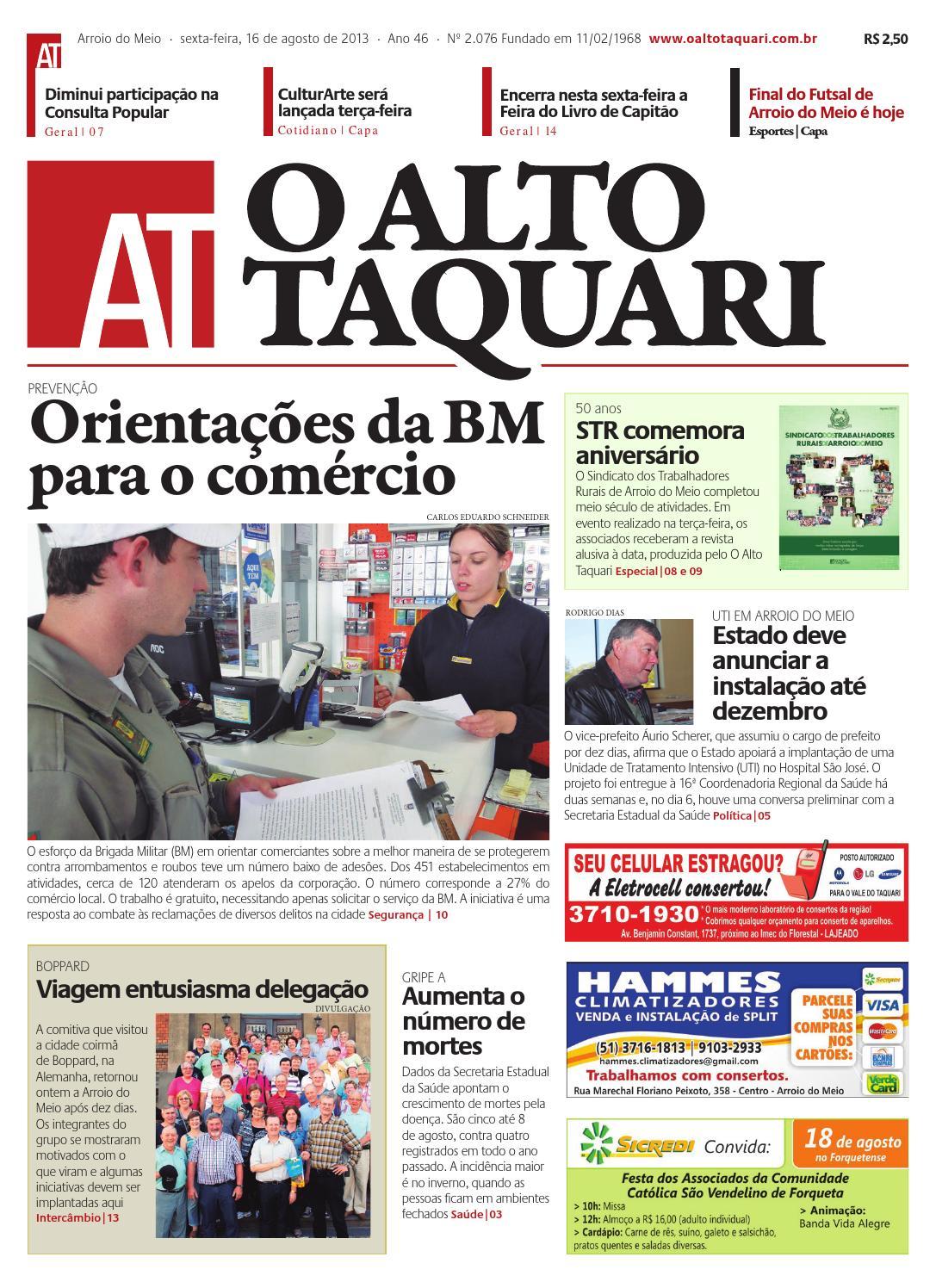 cf4fafcd65bef Jornal O Alto Taquari - 16 de agosto de 2013 by Jornal O Alto Taquari -  issuu