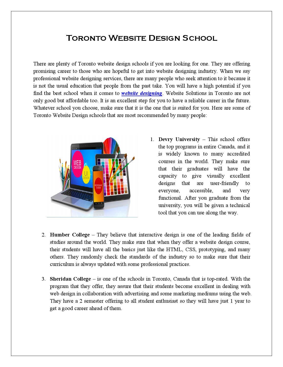 Toronto Website Design School By Accessomedia Issuu