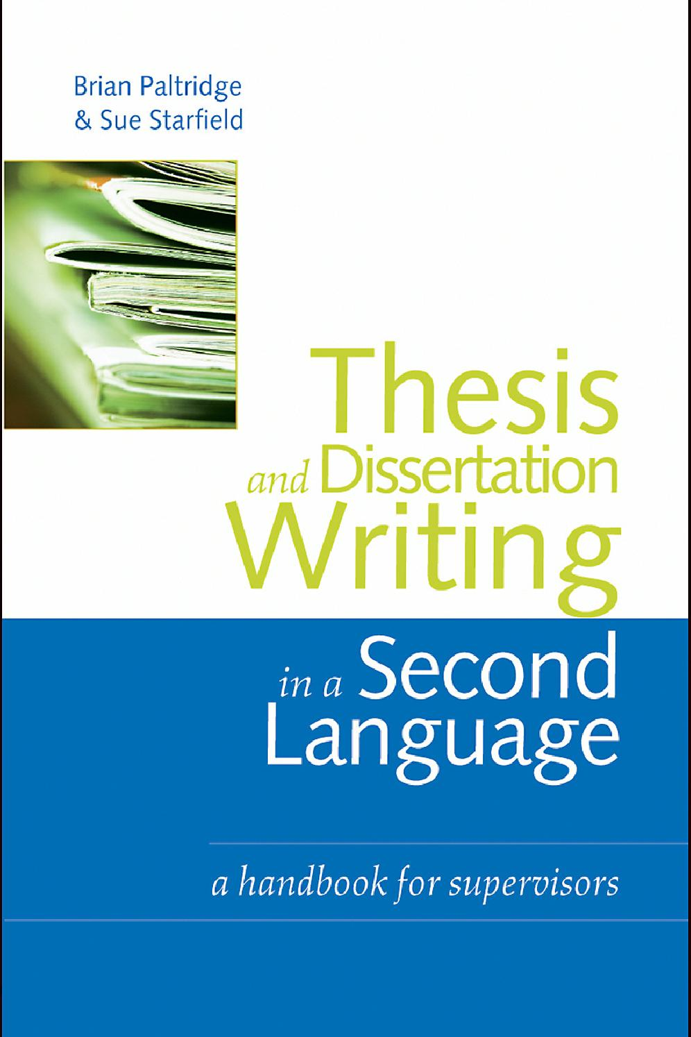Phd thesis dissertation in a second language