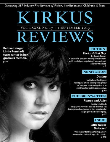 September 01 2013 Volume Lxxxi No 17 By Kirkus Reviews Issuu