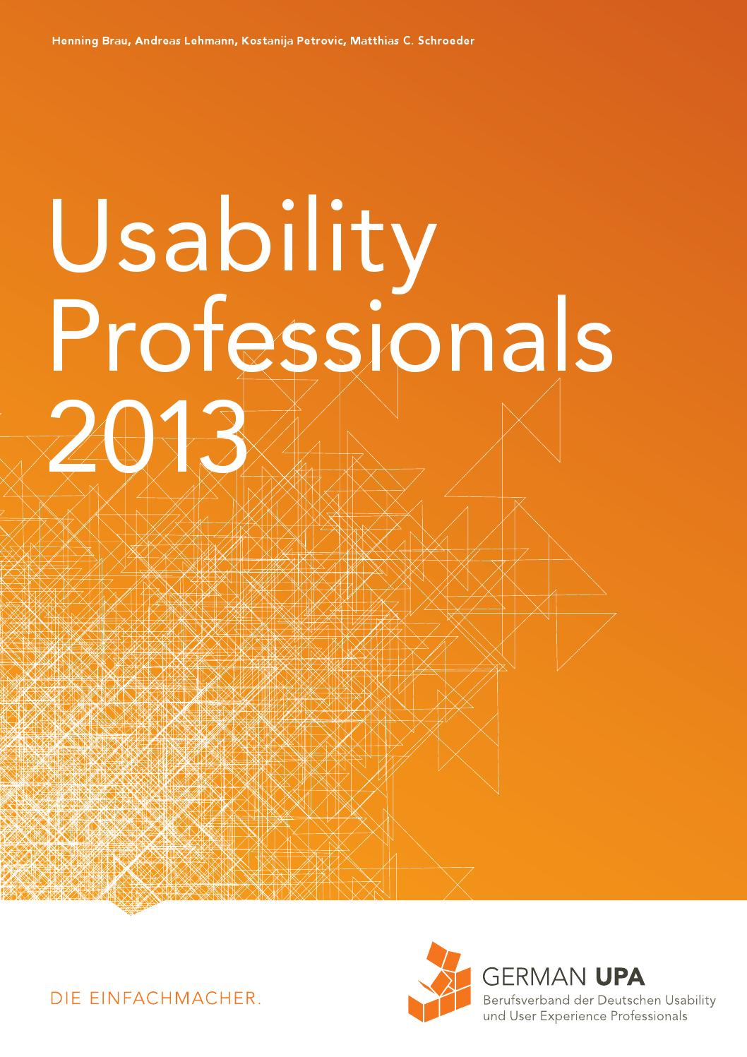 Usability Professionals 2013 - Tagungsband by German UPA e.V. - issuu