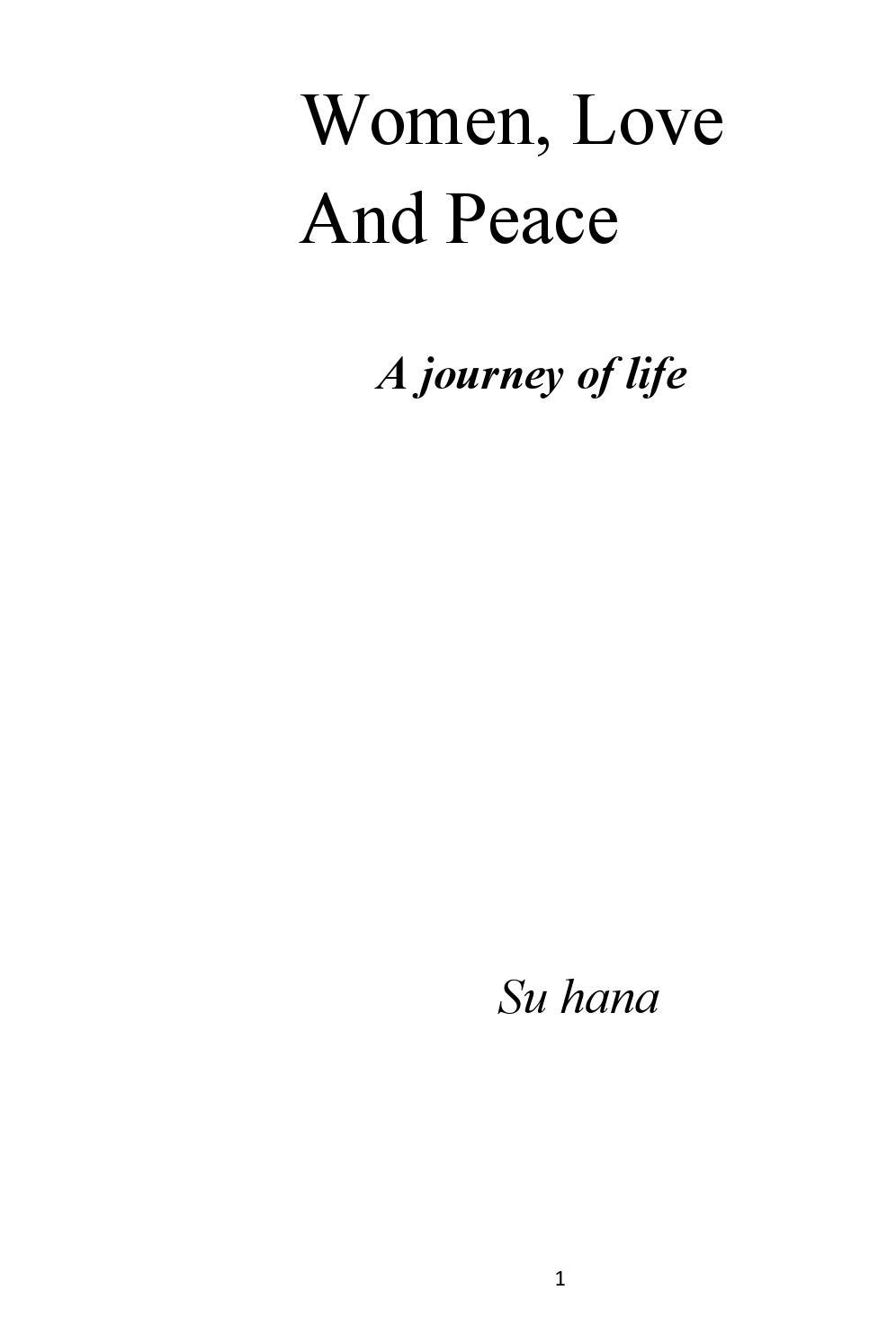 Women, love and peace by Pritis Chandra Majumdar - issuu