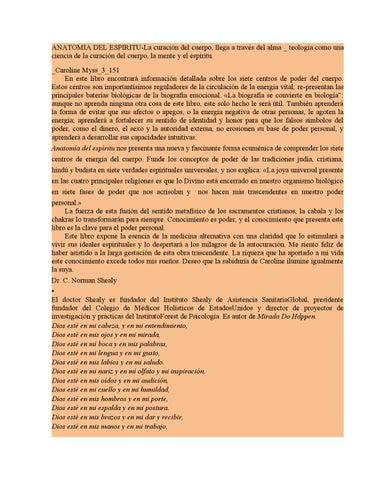 Anatomia del espiritu 1 by María Roa - issuu