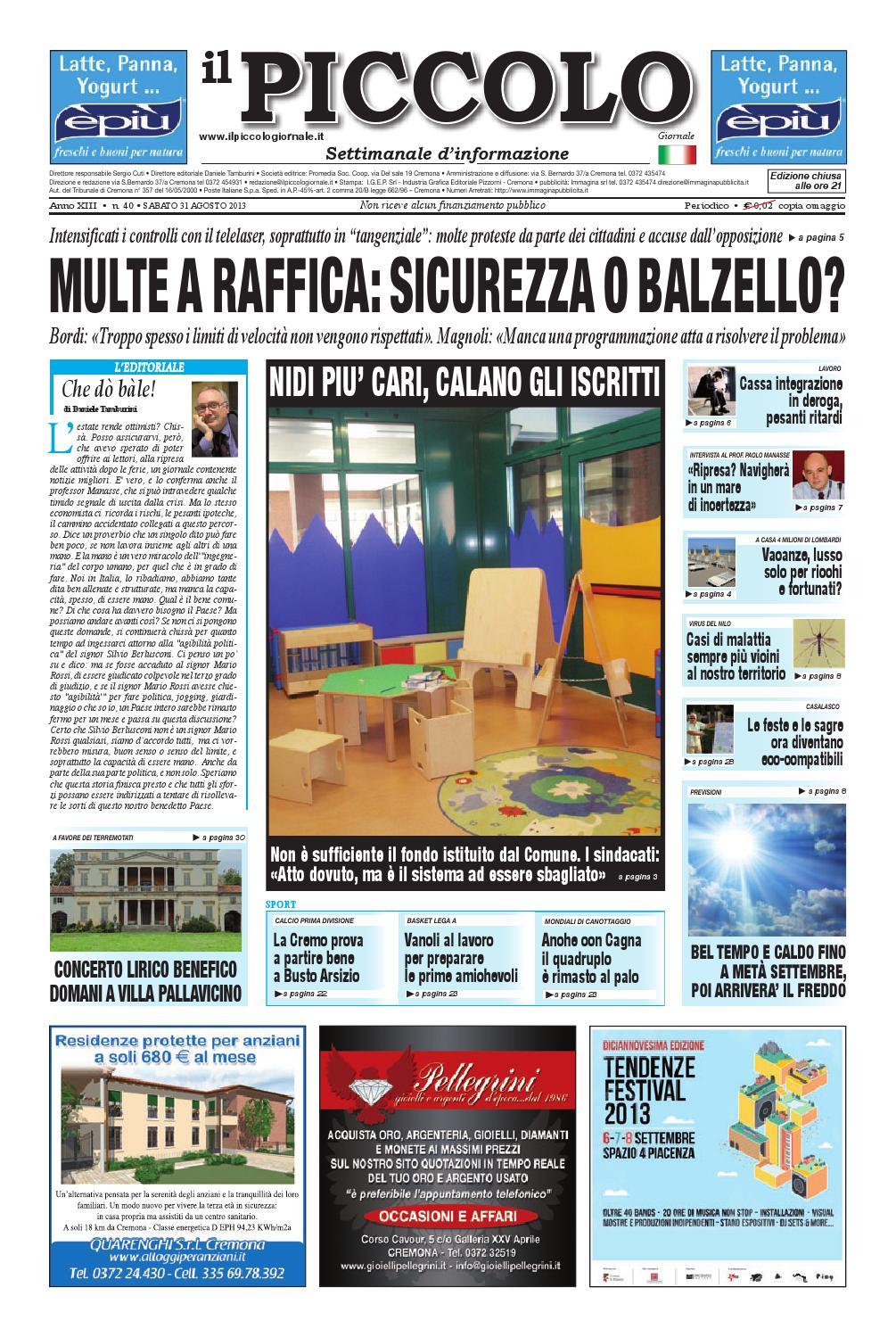 Il Piccolo Giornale di Cremona by promedia promedia - issuu 7e1b92eb555