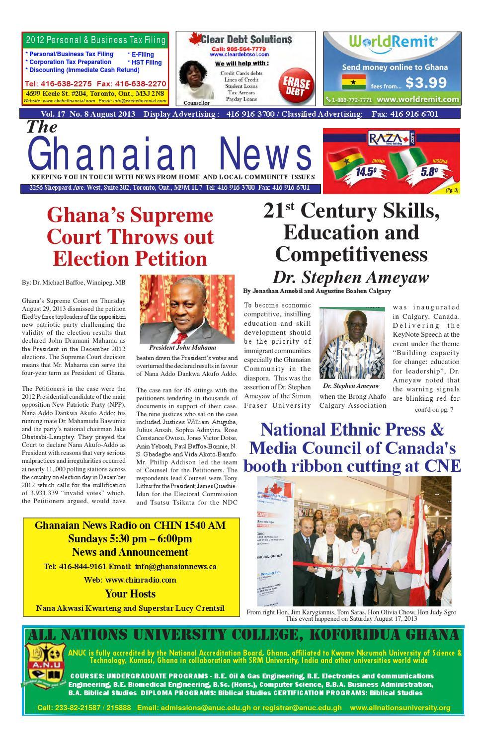 Ghanaian News - August 2013 Edition by Emmanuel Ayiku - issuu