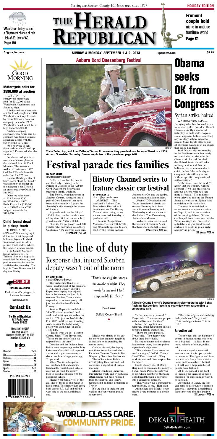The Herald Republican – September 1, 2013 by KPC Media Group - issuu