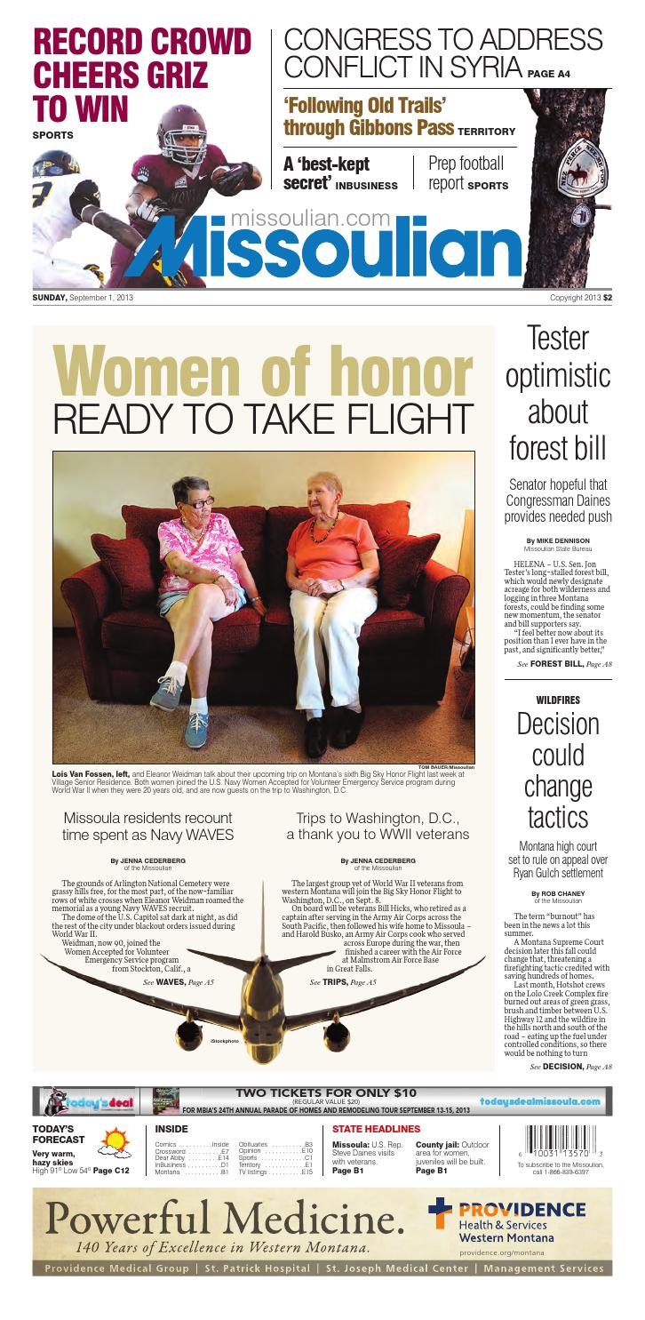 09-01-13 Missoulian by Missoulian eEdition - issuu