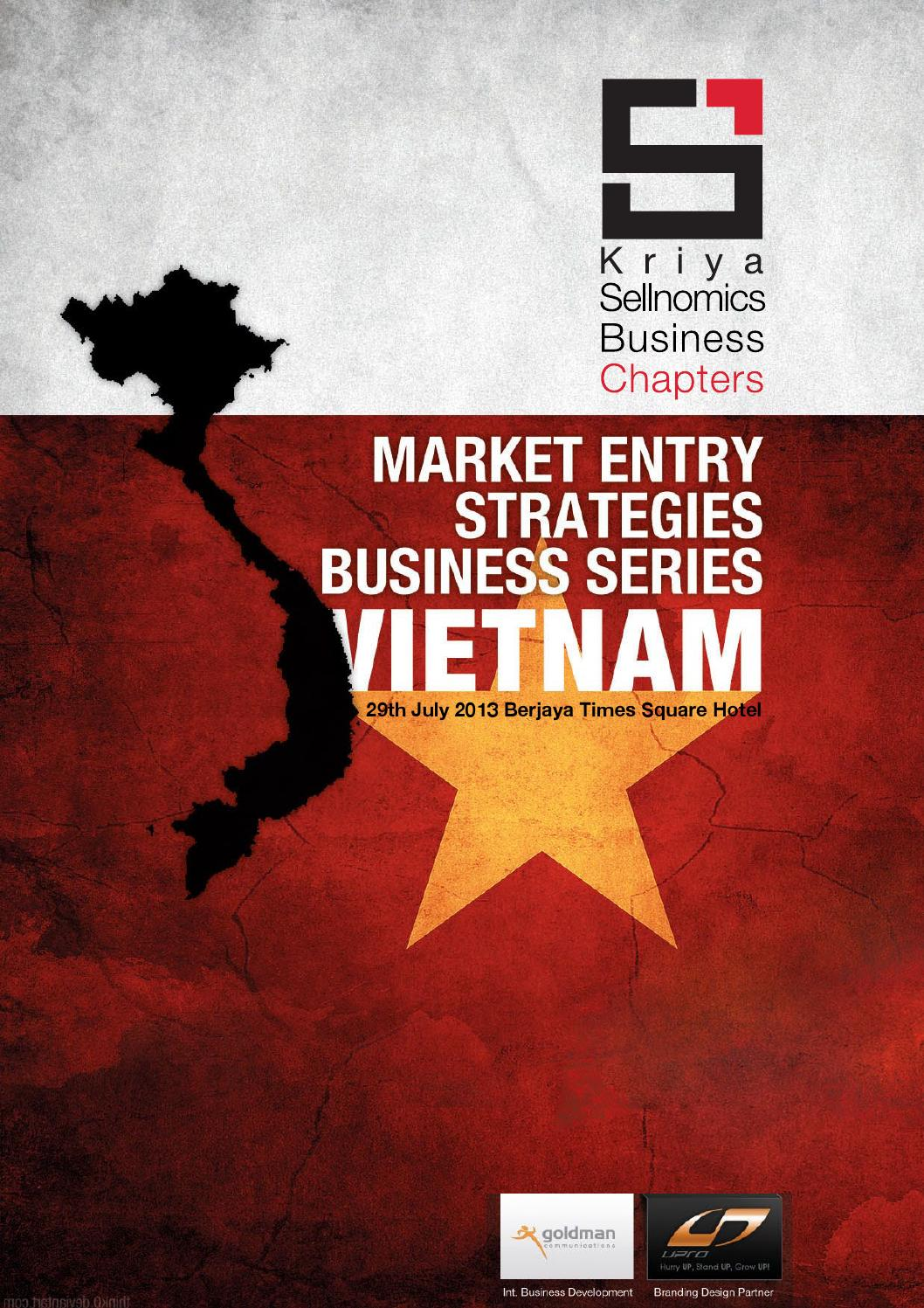 """vietnam market entry In order to achieve this goal, a full external analysis of vietnam""""s confectionery  market the pick & mix concept candyking""""s products an entry plan are wholly ."""