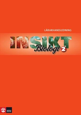 biologi 2 innehåll
