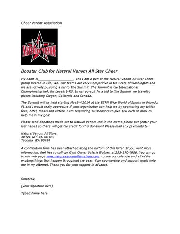 Summit Sponsorship Letter By Natural Venom Issuu