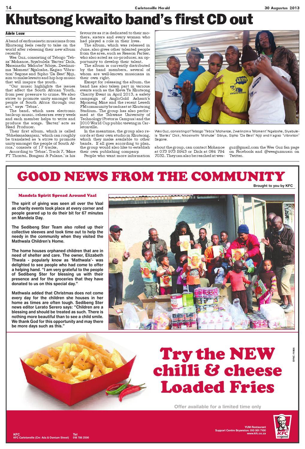 Carltonville Herald 30 Augustus 2013 by Carletonvilleherald - issuu