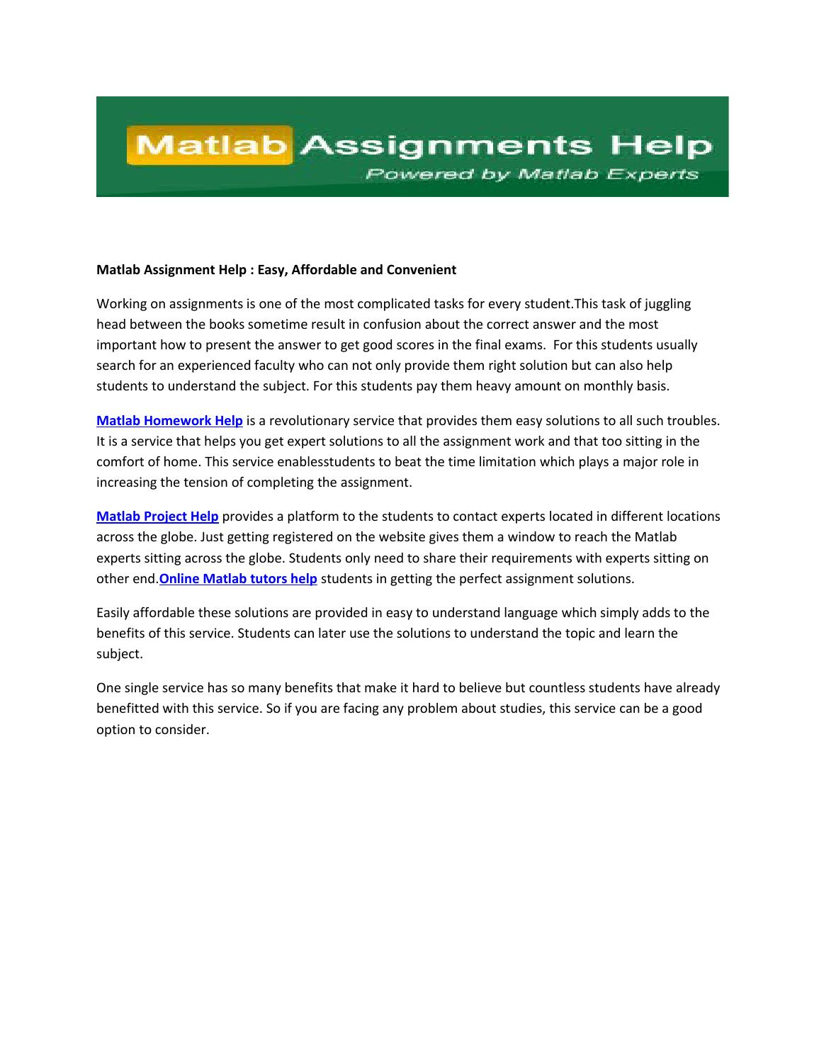 matlab assignment help easy affordable and convenient by matlab matlab assignment help easy affordable and convenient by matlab assignment help issuu