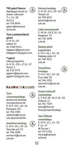 Noorte vaba aja võimalused Tartus 2013/2014 by Tartu LV