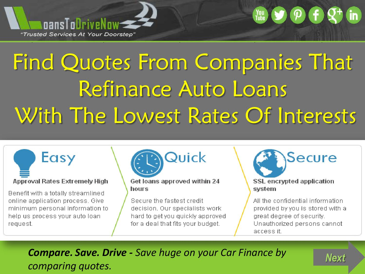 Get Best Companies To Refinance Auto Loan At Lowest Rates By James