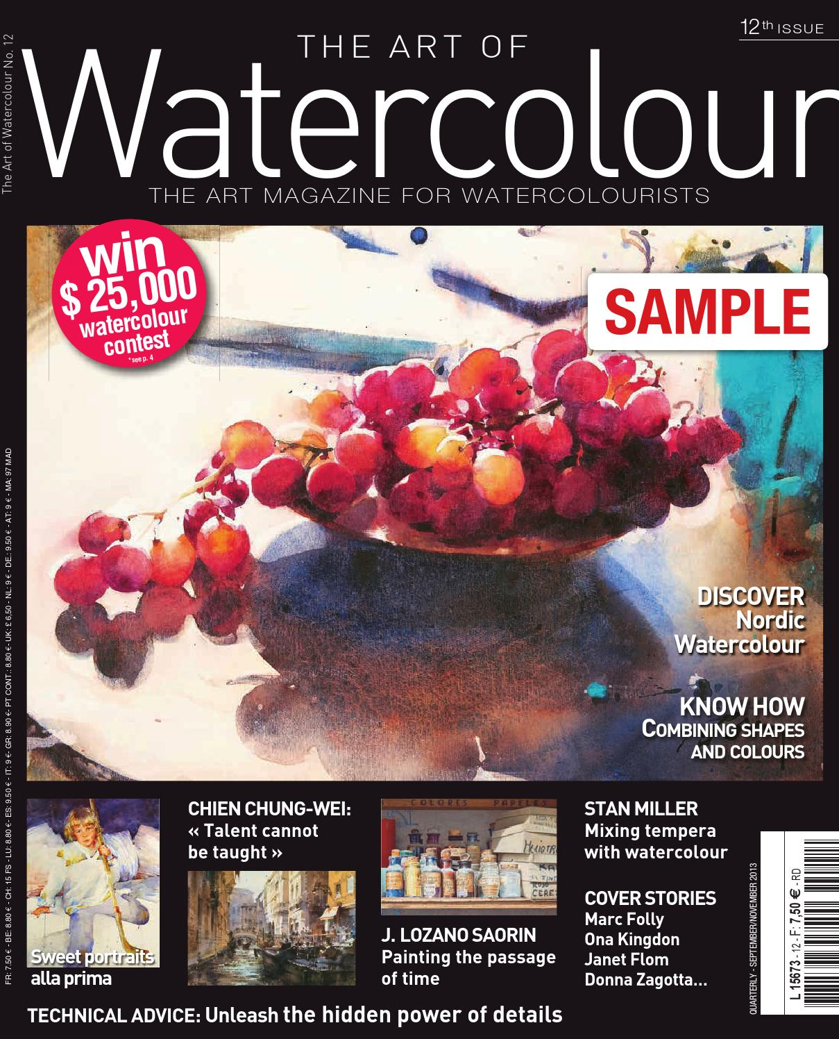 Watercolor artist magazine subscription - The Art Of Watercolour Magazine 12th Issue By Diverti Editions Issuu