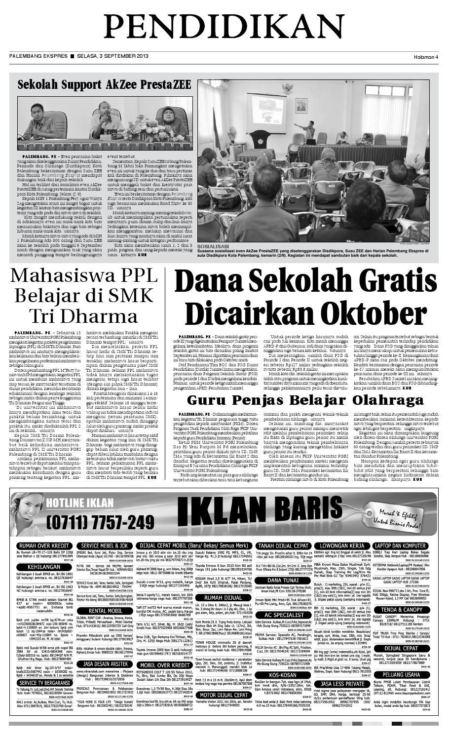 Palembang Ekspres Selasa 3 September 2013 By Palembang