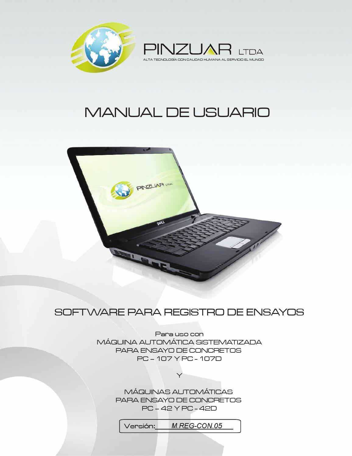 Manual software máquinas de ensayo de concretos V.05 by Publicidad ...