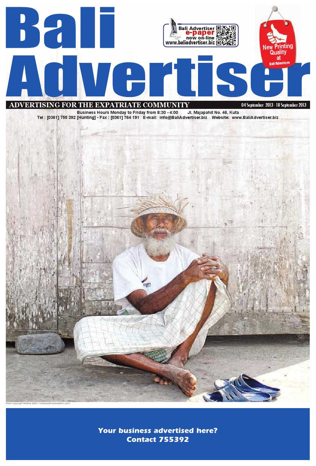 Ba 04 September 2013 By Bali Advertiser Issuu