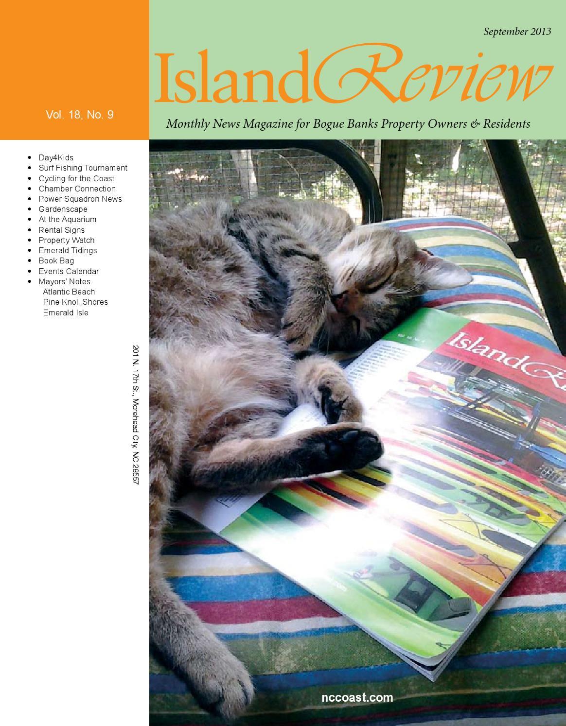 Island review magazine by nccoast issuu for Nc surf fishing calendar
