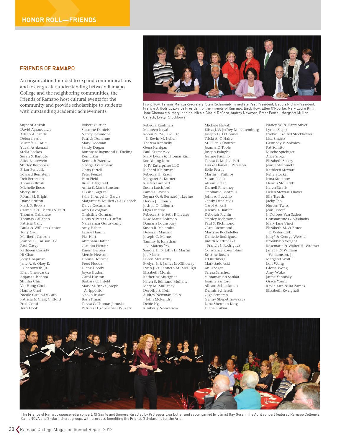 Ramapo Magazine Winter 2013 by Ramapo College - issuu